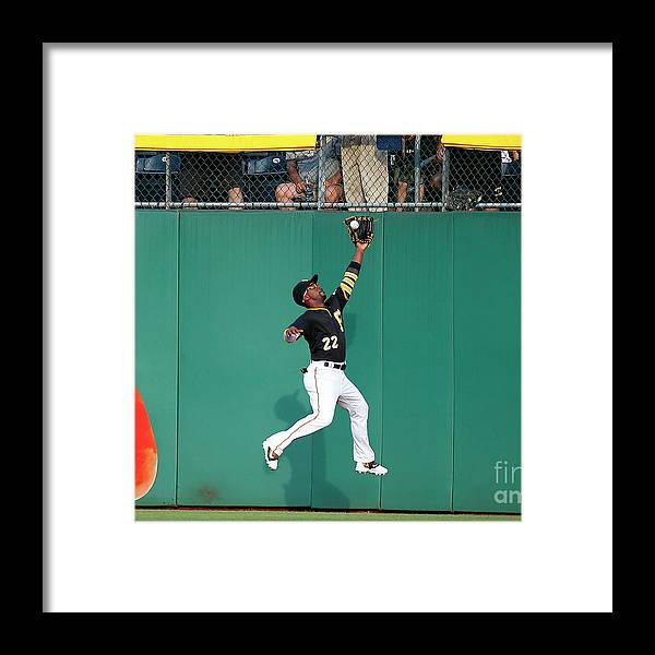 Second Inning Framed Print featuring the photograph Andrew Mccutchen by Justin K. Aller