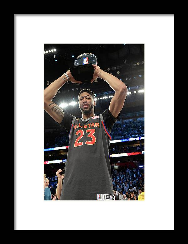 Event Framed Print featuring the photograph Anthony Davis by Andrew D. Bernstein