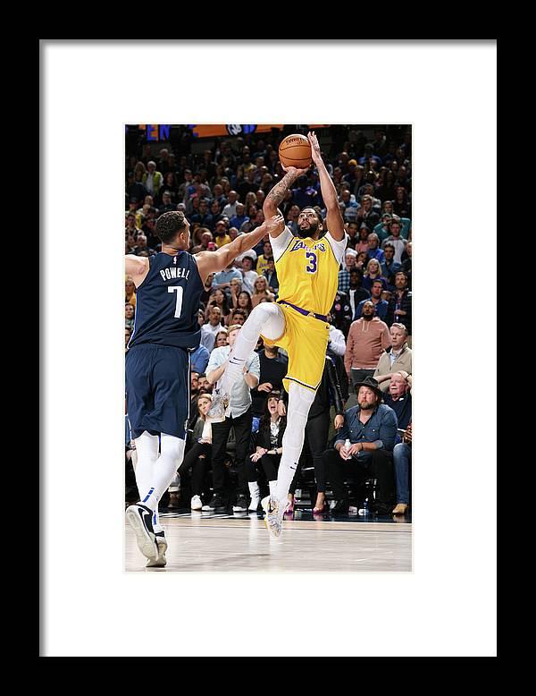 Nba Pro Basketball Framed Print featuring the photograph Anthony Davis by Glenn James