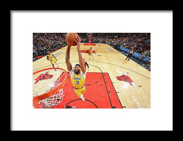 Nba Pro Basketball Framed Print featuring the photograph Anthony Davis by Jesse D. Garrabrant