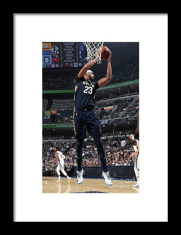 Nba Pro Basketball Framed Print featuring the photograph Anthony Davis by Joe Murphy