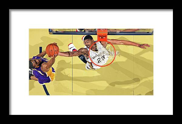 Nba Pro Basketball Framed Print featuring the photograph Anthony Davis by Layne Murdoch
