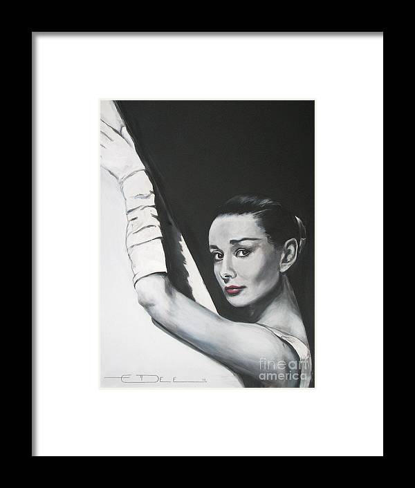 Audrey Hepburn Framed Print featuring the painting Audrey Hepburn by Eric Dee