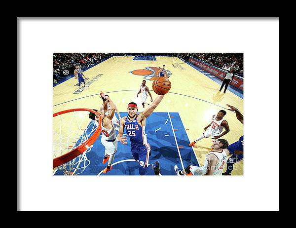 Nba Pro Basketball Framed Print featuring the photograph Ben Simmons by Nathaniel S. Butler