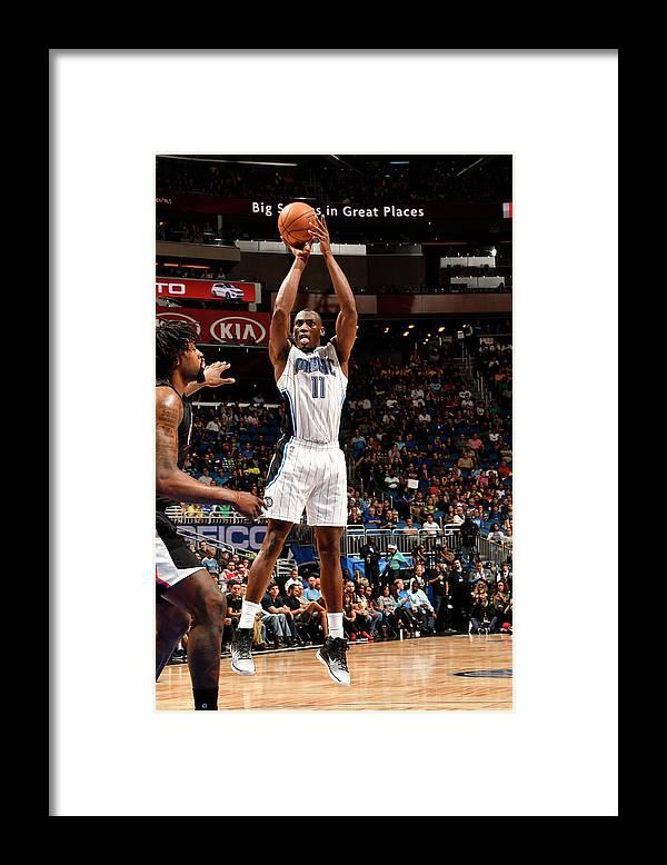 Nba Pro Basketball Framed Print featuring the photograph Bismack Biyombo by Fernando Medina