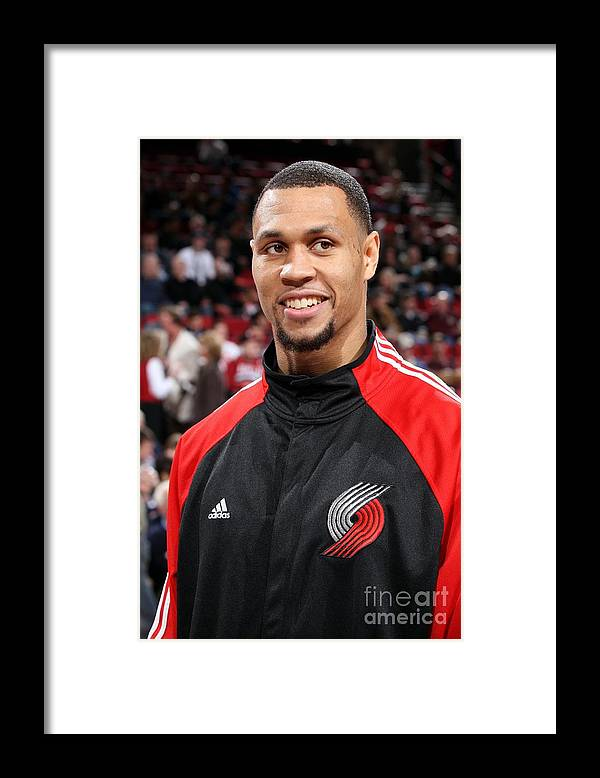 Nba Pro Basketball Framed Print featuring the photograph Brandon Roy by Sam Forencich