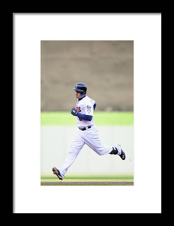 Game Two Framed Print featuring the photograph Brian Dozier by Hannah Foslien