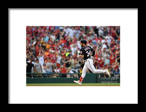 People Framed Print featuring the photograph Bryce Harper by Patrick Mcdermott