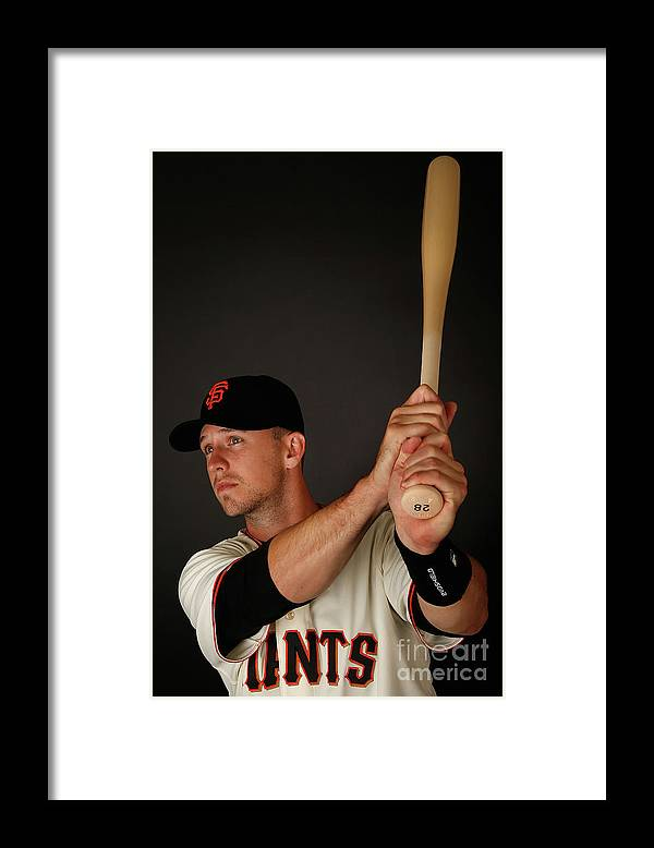 Media Day Framed Print featuring the photograph Buster Posey by Christian Petersen