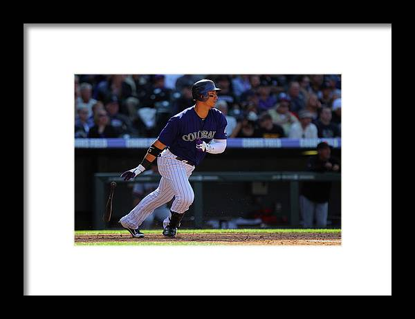 National League Baseball Framed Print featuring the photograph Carlos Gonzalez by Doug Pensinger
