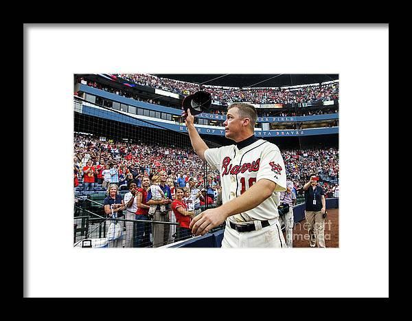 Atlanta Framed Print featuring the photograph Chipper Jones by Daniel Shirey