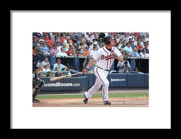 Atlanta Framed Print featuring the photograph Chipper Jones by Scott Cunningham