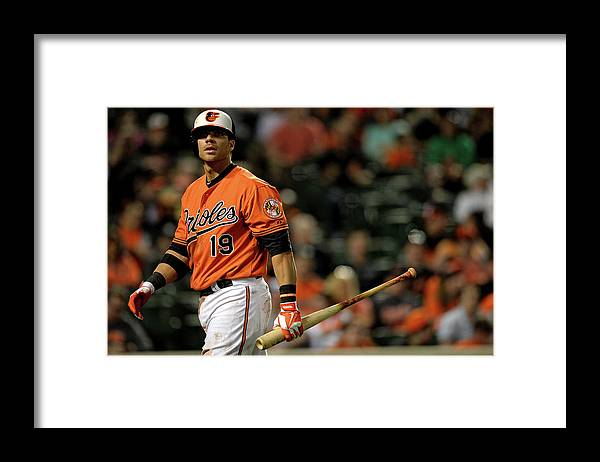 American League Baseball Framed Print featuring the photograph Chris Davis by Patrick Smith