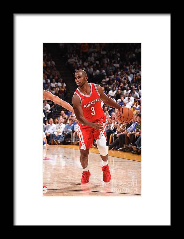 Nba Pro Basketball Framed Print featuring the photograph Chris Paul by Noah Graham