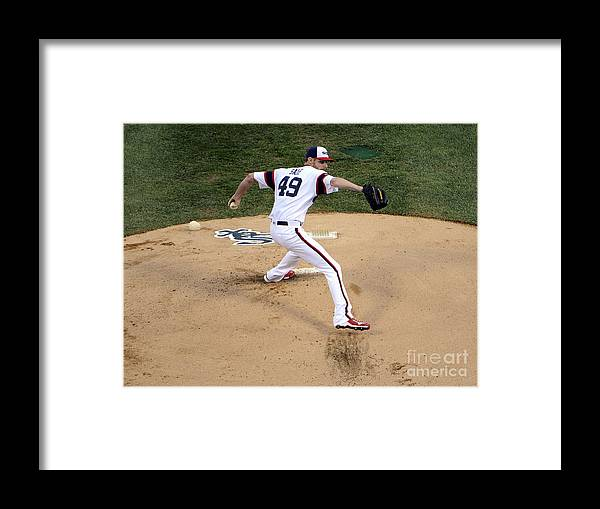 People Framed Print featuring the photograph Chris Sale by David Banks