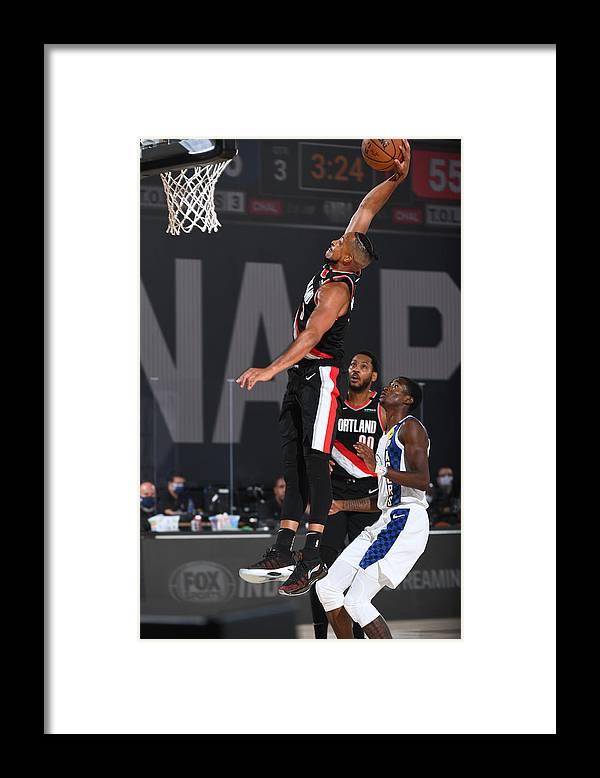 Nba Pro Basketball Framed Print featuring the photograph C.j. Mccollum by Garrett Ellwood