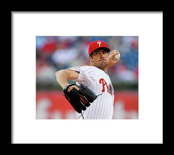 People Framed Print featuring the photograph Cole Hamels by Rich Schultz