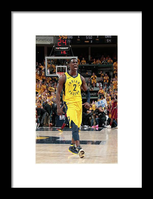 Playoffs Framed Print featuring the photograph Darren Collison by Ron Hoskins