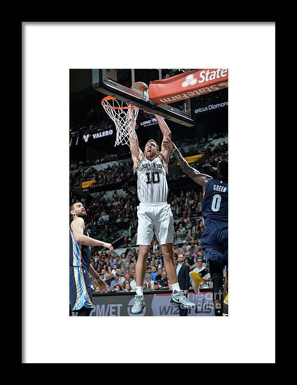 Playoffs Framed Print featuring the photograph David Lee by Mark Sobhani