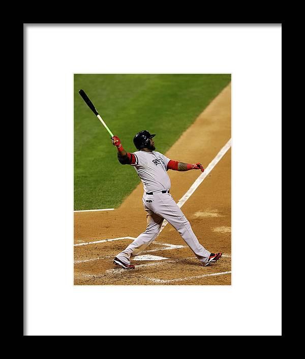American League Baseball Framed Print featuring the photograph David Ortiz by Elsa