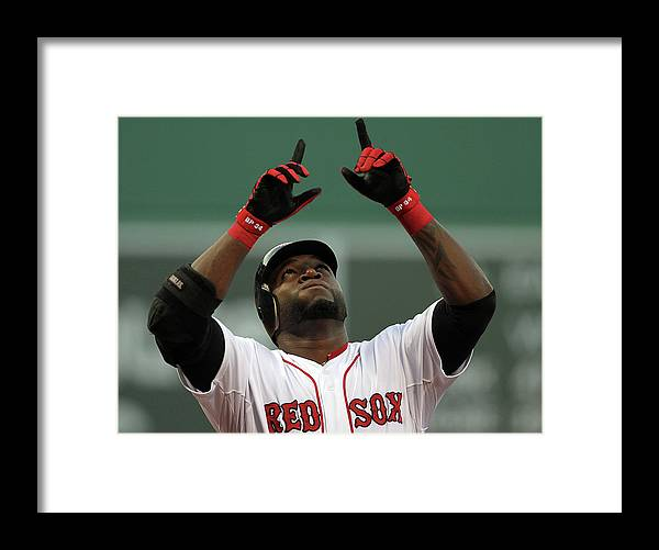 American League Baseball Framed Print featuring the photograph David Ortiz by Jim Rogash