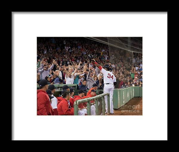 Crowd Framed Print featuring the photograph David Ortiz by Michael Ivins/boston Red Sox