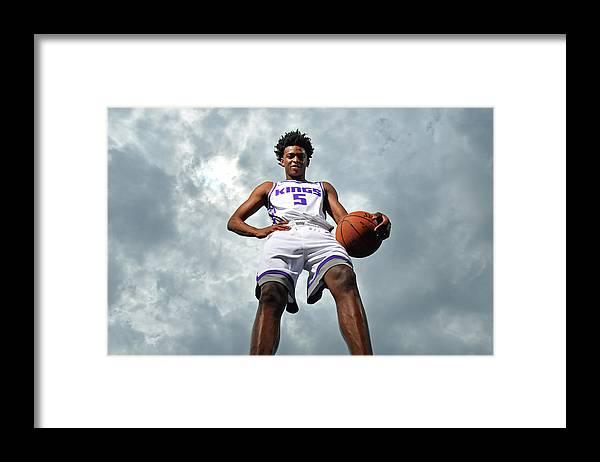 Nba Pro Basketball Framed Print featuring the photograph De'aaron Fox by Jesse D. Garrabrant
