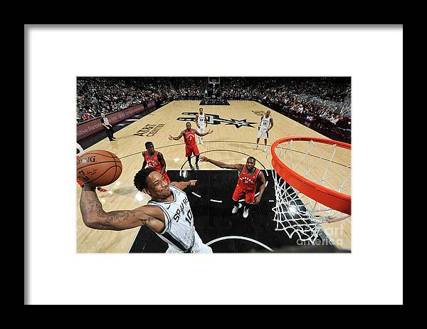 Nba Pro Basketball Framed Print featuring the photograph Demar Derozan by Mark Sobhani