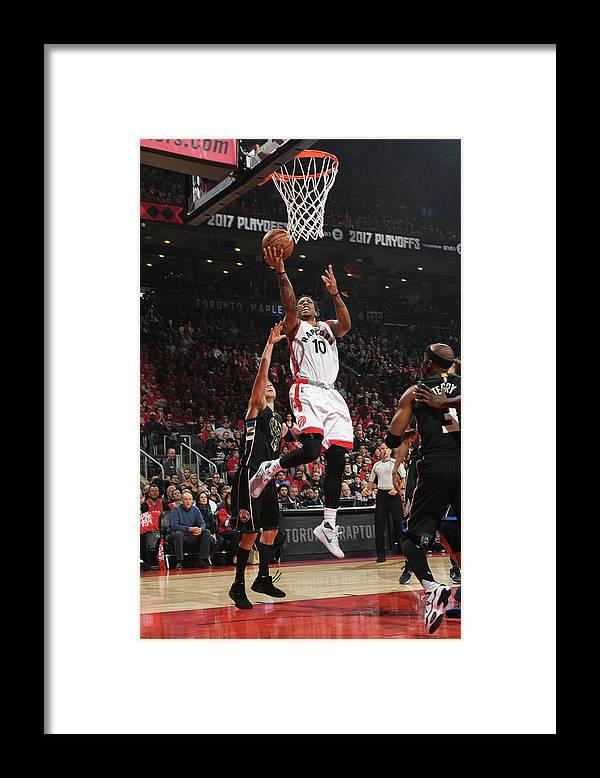 Playoffs Framed Print featuring the photograph Demar Derozan by Ron Turenne