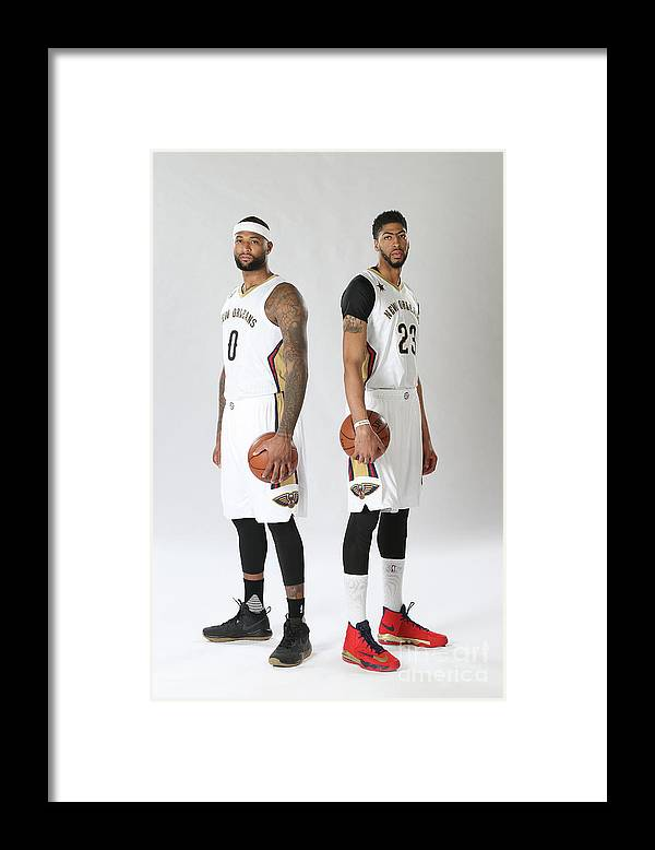 Nba Pro Basketball Framed Print featuring the photograph Demarcus Cousins and Anthony Davis by Layne Murdoch