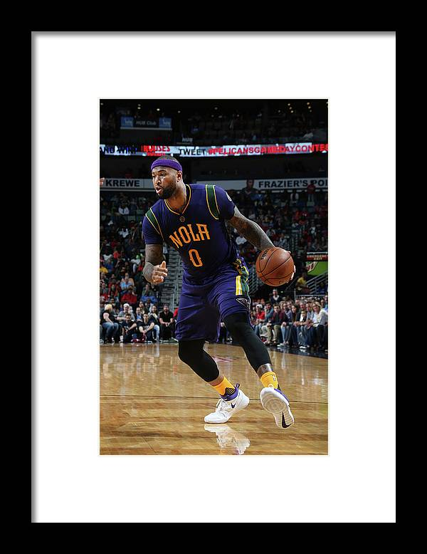 Smoothie King Center Framed Print featuring the photograph Demarcus Cousins by Layne Murdoch