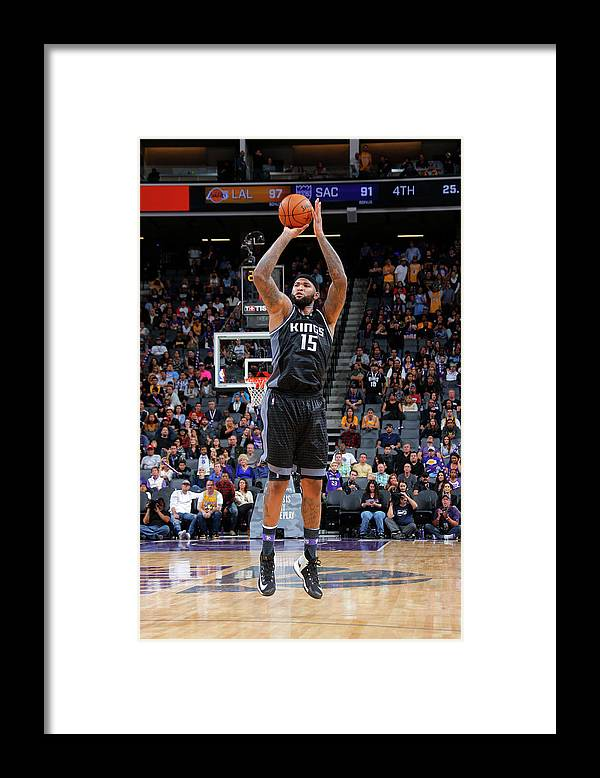 Nba Pro Basketball Framed Print featuring the photograph Demarcus Cousins by Rocky Widner