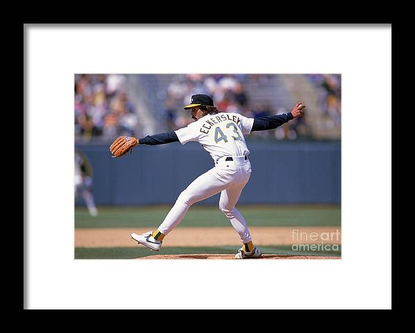 American League Baseball Framed Print featuring the photograph Dennis Eckersley by Otto Greule Jr