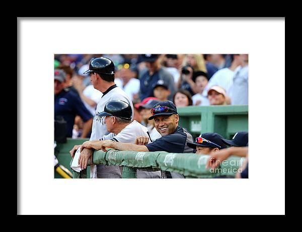 American League Baseball Framed Print featuring the photograph Derek Parks by Al Bello