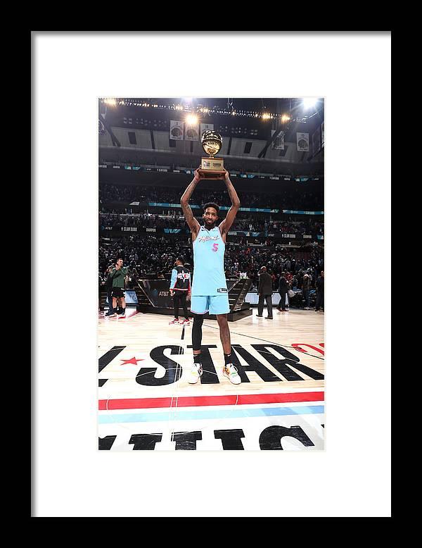 Nba Pro Basketball Framed Print featuring the photograph Derrick Jones by Nathaniel S. Butler