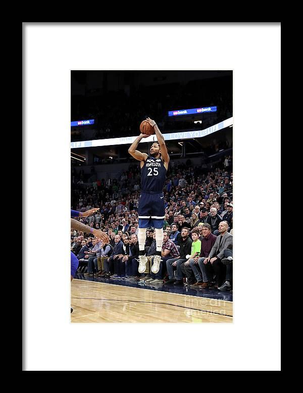 Nba Pro Basketball Framed Print featuring the photograph Derrick Rose by Jordan Johnson