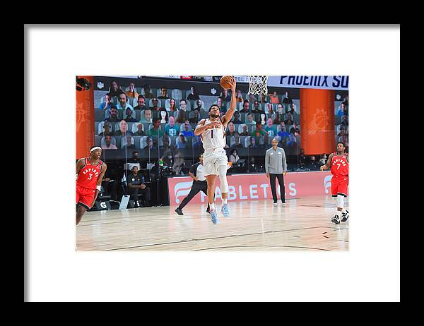 Nba Pro Basketball Framed Print featuring the photograph Devin Booker by Bill Baptist