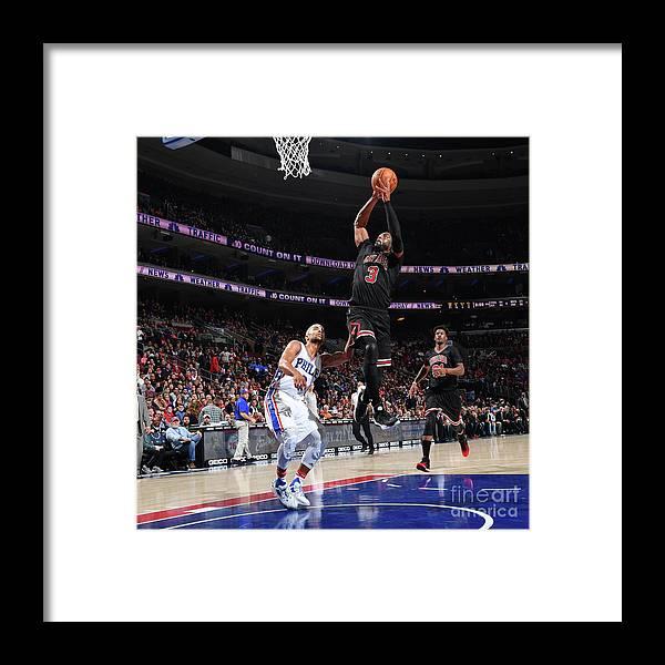 Nba Pro Basketball Framed Print featuring the photograph Dwyane Wade by Jesse D. Garrabrant