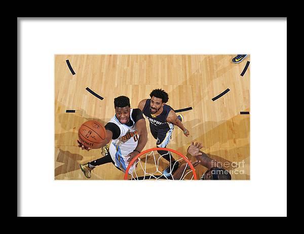 Nba Pro Basketball Framed Print featuring the photograph Emmanuel Mudiay by Garrett Ellwood