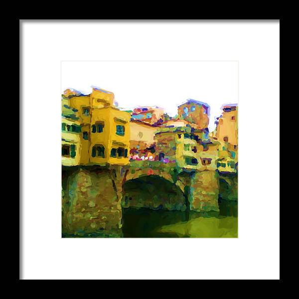 Florence Framed Print featuring the mixed media Florence by Asbjorn Lonvig