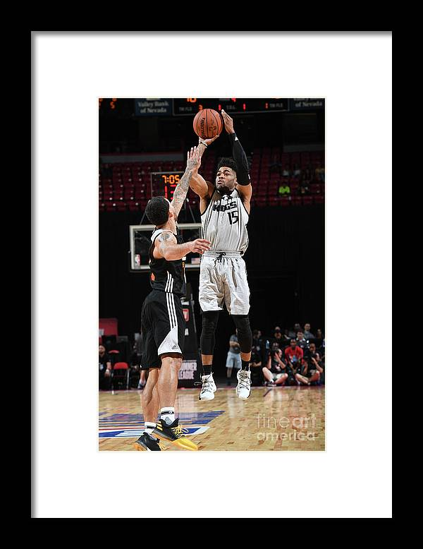 Nba Pro Basketball Framed Print featuring the photograph Frank Mason by Garrett Ellwood