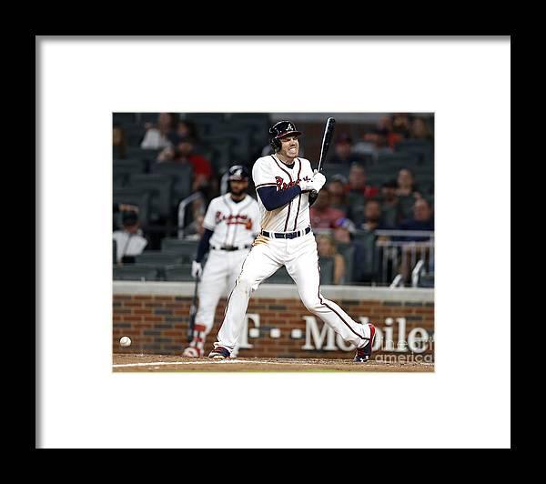 Atlanta Framed Print featuring the photograph Freddie Freeman by Mike Zarrilli