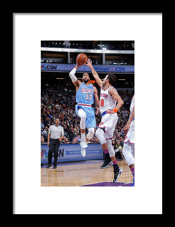 Nba Pro Basketball Framed Print featuring the photograph Garrett Temple by Rocky Widner