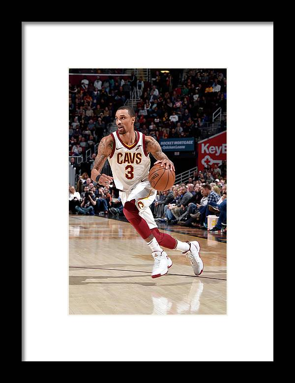 Sports Ball Framed Print featuring the photograph George Hill by David Liam Kyle