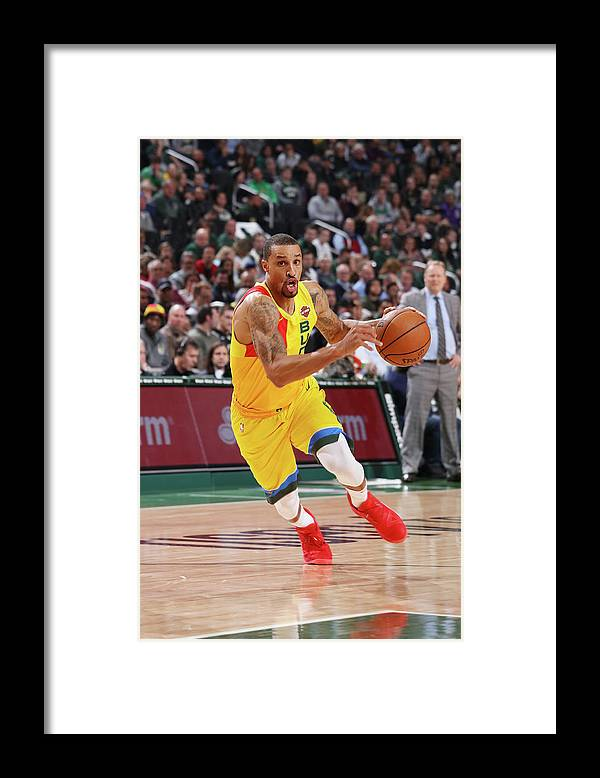 Nba Pro Basketball Framed Print featuring the photograph George Hill by Gary Dineen