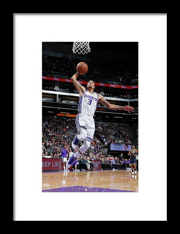 Nba Pro Basketball Framed Print featuring the photograph George Hill by Rocky Widner