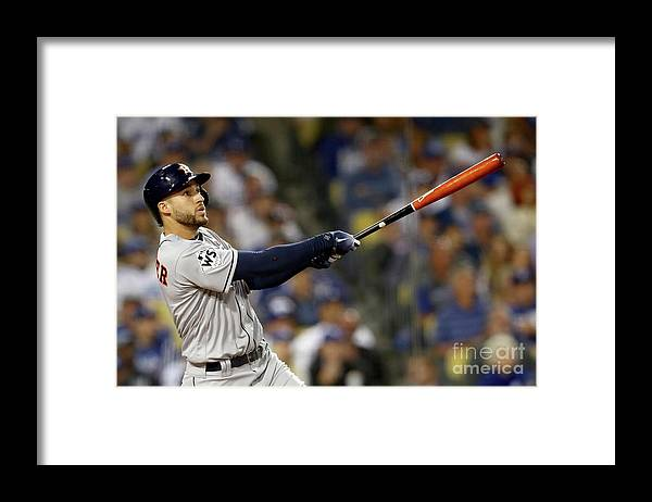 Three Quarter Length Framed Print featuring the photograph George Springer by Ezra Shaw