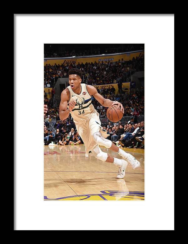 Nba Pro Basketball Framed Print featuring the photograph Giannis Antetokounmpo by Andrew D. Bernstein