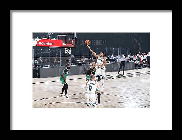 Nba Pro Basketball Framed Print featuring the photograph Giannis Antetokounmpo by David Sherman