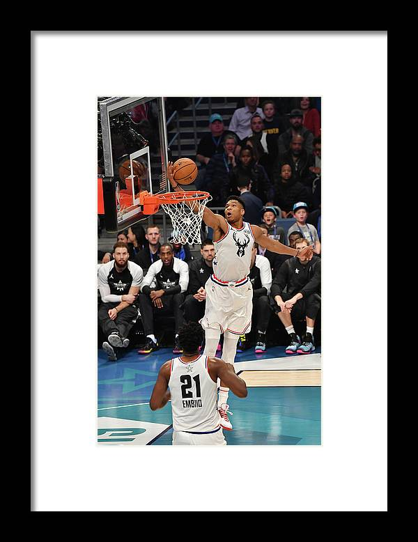 Nba Pro Basketball Framed Print featuring the photograph Giannis Antetokounmpo by Jesse D. Garrabrant